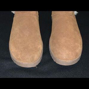 Merona Shoes - Merona Suede Boots w/Faux Fur never worn/size 9